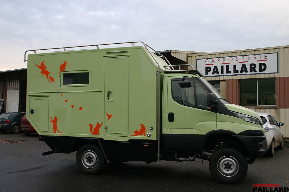 Camping-car poids-lourd IVECO Daily 4×4 vert